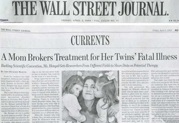 The Wall Street Journal Reports On FDA Approval of Addi and Cassi's